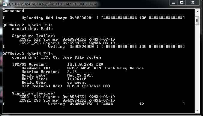 تمامی فایل فلش هایAutoloaders بلک بری OS 10