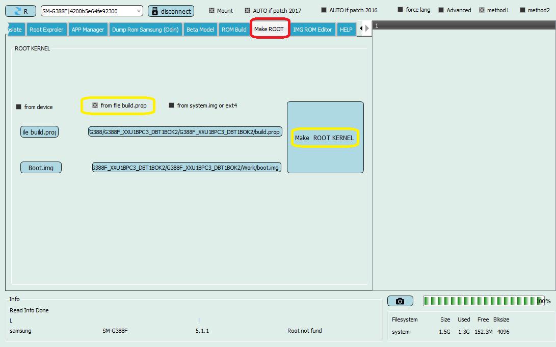 آموزش ساخت فایل روت با Build.prop و Boot.img توسط دانگل EFT