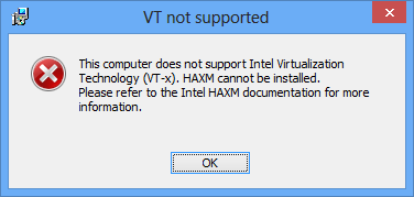 VT Not Supported