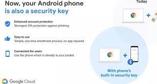 استفاده از گوشی اندرویدی به عنوان کلید امنیتی فیزیکی