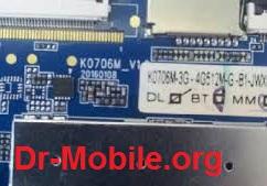 فایل فلش تبلت با شماره برد K0706M V1.2 چیپست MT6572
