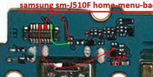حل مشکل سخت افزاری کار نکردن کلید ها در گوشی سامسونگ sm-J510F
