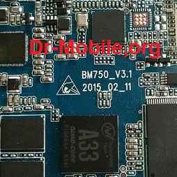 فایل فلش تبلت با شماره برد BM750_V3.1 چیپست A33
