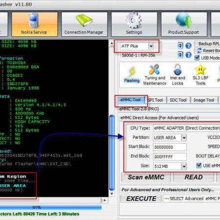 آموزش رید گرفتن فایل دامپ باکس UFS توسط باکس ایزی جیتگ
